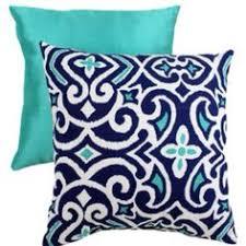 Navy Blue Decorative Pillows Robert Allen Moroccan Blue And Ultramarine Green Tile Decorative