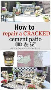 Repair Concrete Patio Cracks How To Repair A Cracked U0026 Old Cement Patio Before U0026 After Four