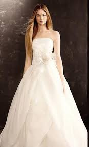 organza wedding dress vera wang white textured organza wedding dress 650 size 16