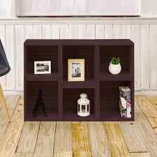 Bookcase Clips Concepts In Wood Midas Espresso Open Bookcase Mi4848 E The Home