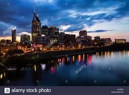 nashville tennessee skyline at night stock photo royalty free