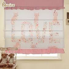 Cotton Roller Blinds Cartoon Room Cotton Fabric Roman Blinds Roller Shutter Window