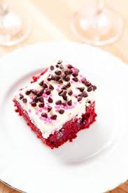red velvet poke cake with cream cheese frosting cream cheeses