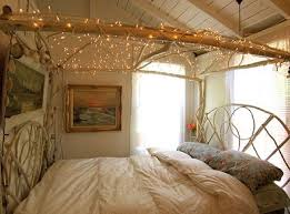 simple ideas to hang christmas decoration and lights in a bedroom