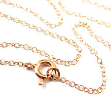rose gold necklace chains images Rose gold necklace rose gold plated over sterling silver chain jpeg
