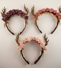 fawn headband sweet mildred forest fawn deer antler flower crown accessory
