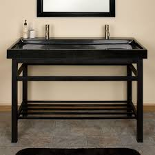 furniture marvelous trough bathroom sink with two faucets