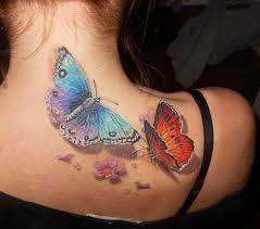 amaizing 3d butterfly on shoulder tattoomagz
