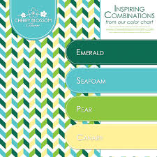Colorcombinations Color Combinations Emerald Green Seafoam Turquoise Blue Canary