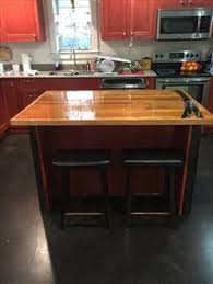 Kitchen Island Made From Reclaimed Wood Excellent Desk Made With Reclaimed Wood From An Old Gym Floor