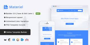 material responsive email template online builder by castellab
