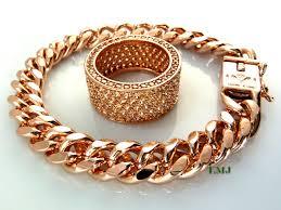 rose gold link bracelet images 14k rose gold and champagne lab made diamond quot fully loaded 360 jpg