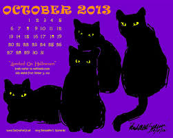halloween background repeating featured artwork and october desktop calendar spooked on