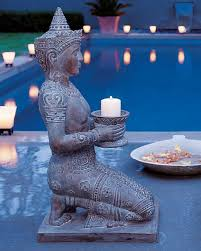add serenity to your garden with kneeling thai statue the great