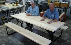 Plans Building Wooden Picnic Tables by Free Picnic Table Plans How To Build A Picnic Table
