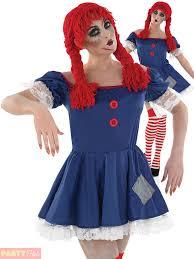 living rag doll ladies fancy dress halloween spooky dolly womens