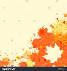 bright orange watercolor paint splatter frame stock vector