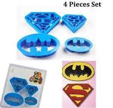 superman cake toppers 4 pcs batman batwing superman cookie cutter fondant mold