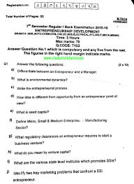 tutorial questions on entrepreneurship bput b tech entrepreneurship development question fourth year 7th