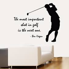 popular golf wall decals quotes buy cheap golf wall decals quotes vinyl wall decal golfter boy golf player quote lettering sport golf art wall sticker golf centre