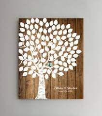 tree signing for wedding wooden guest book tree 125 150 signatures guest book tree