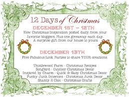 12 days of christmas link party and winners