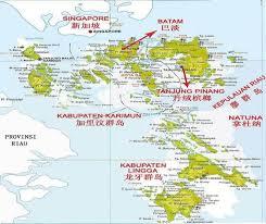 map batam maps of riau islands source http www indonesiatravelling