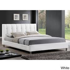furniture home stella crystal tufted white modern bed with