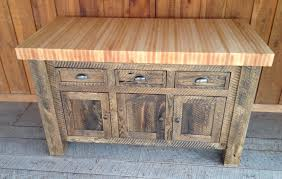 sedona rustic oak wood butcher block kitchen island cart ebay in