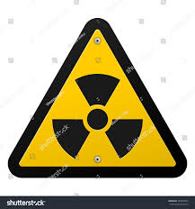 nuclear radiation symbol radioactive sign yellow stock vector
