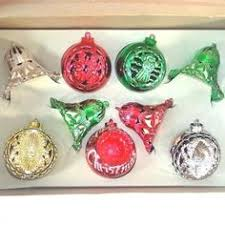box bradford plastic ornaments spun cotton figures