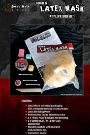 halloween prosthetic mask dead walk designs horror fx prosthetic u0027clown u0027 latex mask u0026 kit