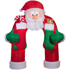 shop holiday living 12 ft x 4 92 ft animatronic lighted archway