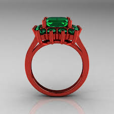 red emerald rings images Modern victorian 14k red gold 4 0 ct emerald designer engagement jpg
