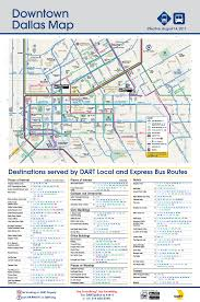 Routing Maps by Dart Org Downtown Dallas Bus Routing And Places Of Interest Map