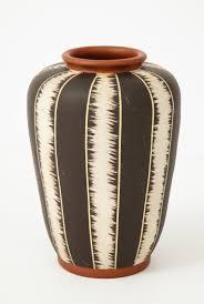 Rosewood Pottery Vase West German Mid Century Modern Pottery Vase U2014 Babou