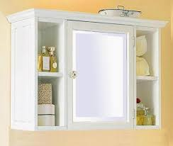 contemporary small bathroom wall cabinet white with shelf to