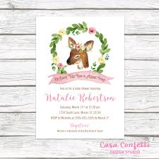 deer baby shower invitation woodland baby shower invitation
