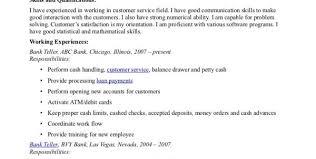 Sample Resume For Bank Jobs by Bank Teller Resume Template Banking Resume Template Banking Resume