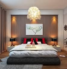 bedroom floating nightstand design also modern ceiling lighting