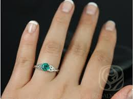 gold emerald engagement rings rosados box cassidy 6mm white gold emerald celtic knot