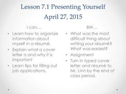 About Myself Resume Chapter 24 Caring For Your Career And Yourself Ppt Video Online