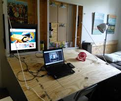 Diy Drafting Desk by Hideaway Drafting Table 7 Steps With Pictures