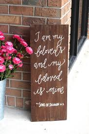 wedding quotes signs rustic wooden wedding sign my beloved bible verse sign