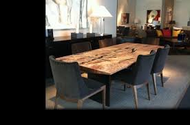 distressed wood table and chairs dining room fair image of dining room decoration using round flare