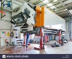 Building A Garage Workshop by Repairing A Cab Lorry In A Garage Workshop Stock Photo Royalty