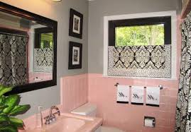 pink tile bathroom ideas more pink bathrooms with black accents pink tile bathroom