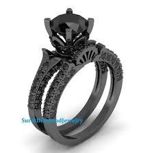 black diamond bridal set black diamond wedding ring ebay