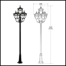 decorative street light poles beautifying l post 5 ls exterior lighting