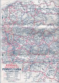West Virginia Road Map by 1920 U0027s Oil Company Road Maps Of Pennsylvania